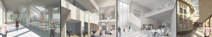 Proposed design of new student centre