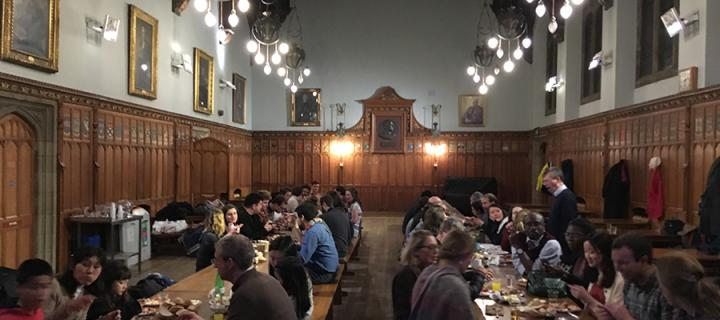 Thanksgiving dinner in Rainy Hall, New College