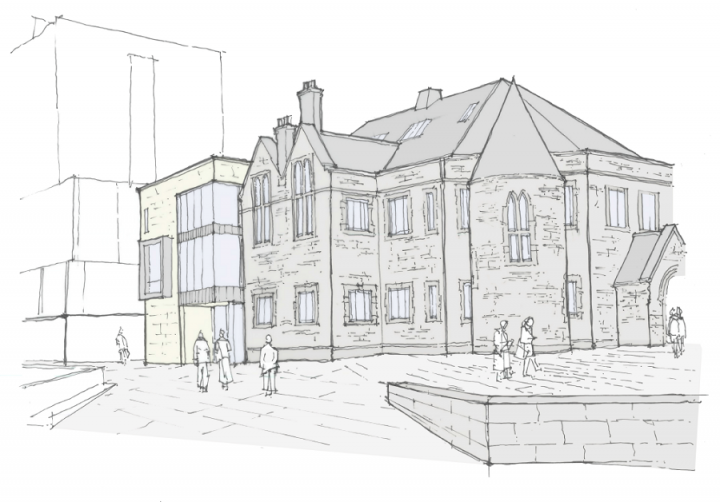Artists's impression of Old Kirk Postgraduate Centre