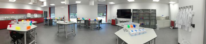 Panoramic photo of the EBSOC lab