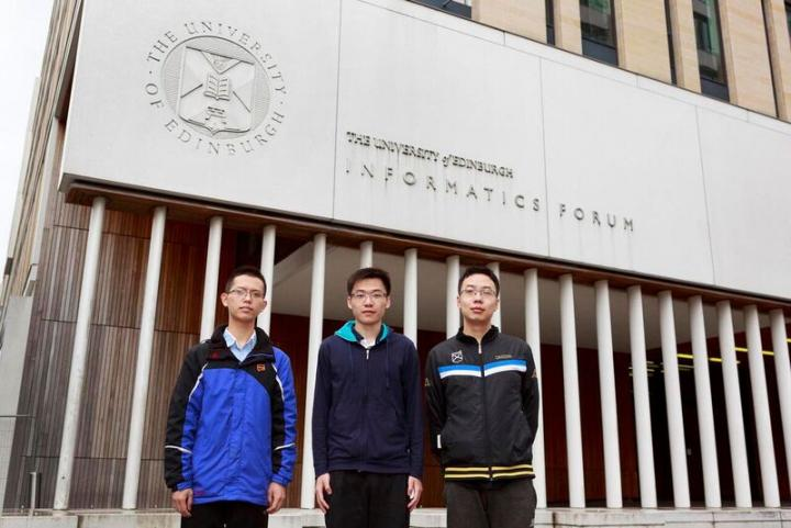 Peking students Hangfeng He, Dayou Du and Jin Zhu