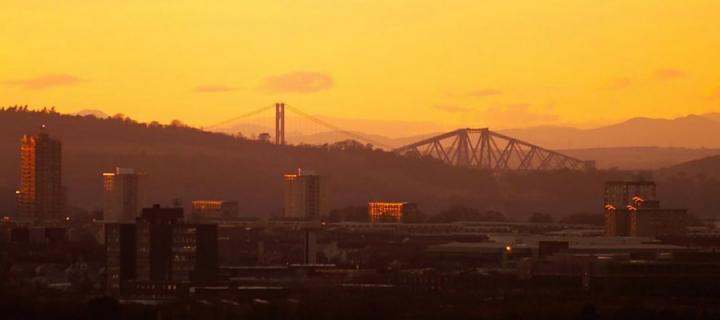 Edinburgh skyline and horizon