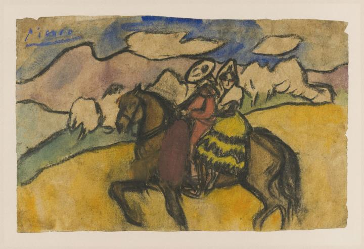 Going to the Fair by Pablo Picasso