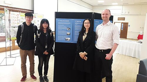 Environmental consulting course students, part of the Carbon Finance programme, who developed a living lab project