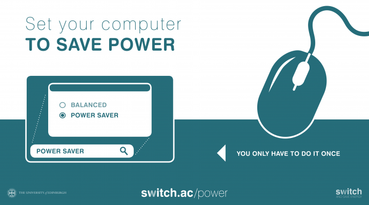 Set your computer to power saver