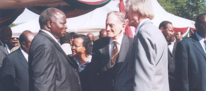 Dr Denis Rutovitz at the state funeral of Kisoi Munyao