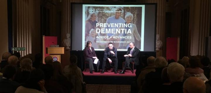 Panel of speakers at the Preventing Dementia Conference 2017