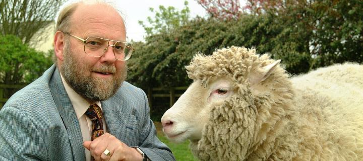 Sir Ian Wilmut and Dolly the Sheep
