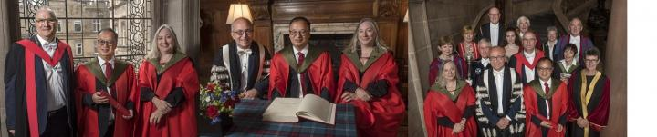 Images of Prof Song at The Biomedical Sciences graduation 2019