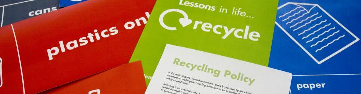 Recycling publicity materials
