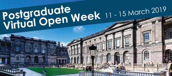 Postgraduate Virtual Open Week 11-15 March 2019