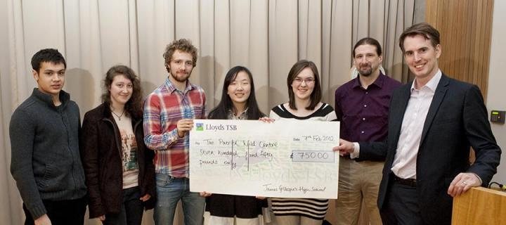 Cheque presentation for the Patrick Wild Centre