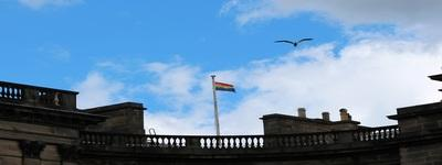 Rainbow Flag At Old College