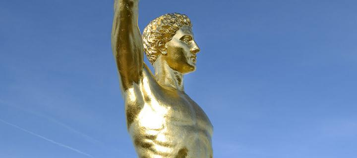 Photo of the Golden Boy statue