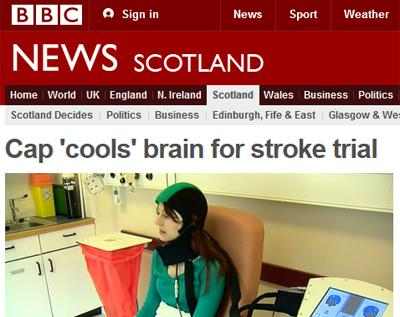 Screenshot from BBC website article about stroke research impact