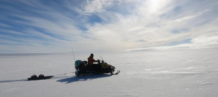Researchers survey Pine Island Glacier