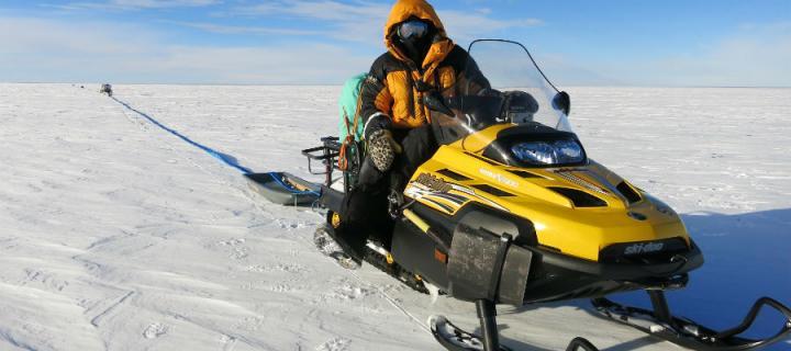 Researchers survey Pine Island Glacier