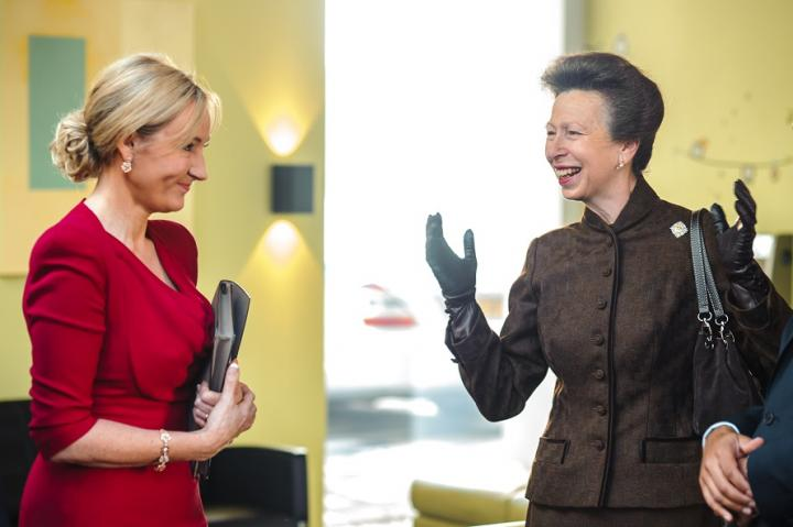 Her Royal Highness, The Princess Royal with JK Rowling