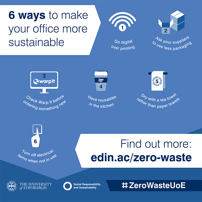 ZeroWaste UoE: a new campaign to reduce waste at the