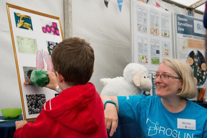 Kids with staff at the Royal Highland Show