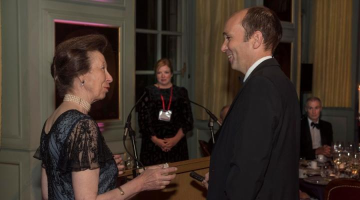 Professor Richard Mellanby with Princess Anne.