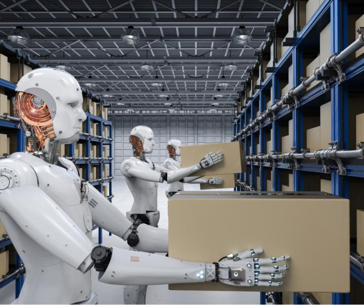 robots in warehouse