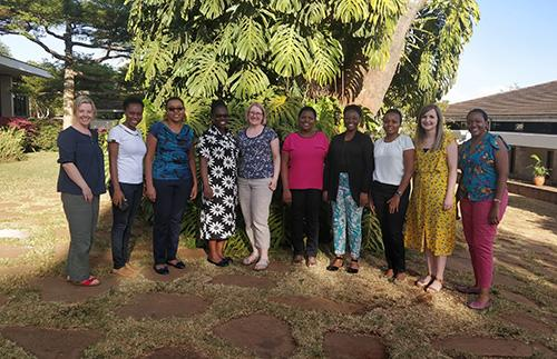 The Roslin team with the IVVN African Schools Outreach Programme team.