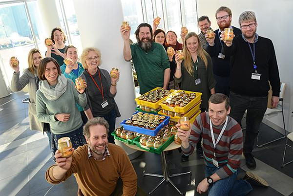 Last summer the Easter Bush Campus Beekeepers collected a record of 144 lb (65 kg) of honey!