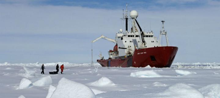Research Ship in Antartica