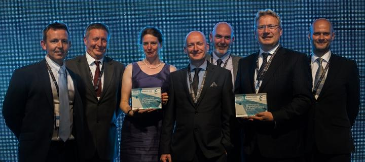 The University of Edinburgh team with their award