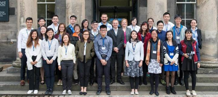 Visiting students at the Edinburgh Centre for Carbon Innovation