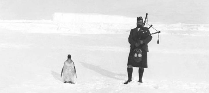 Piper Gilbert Kerr with penguin