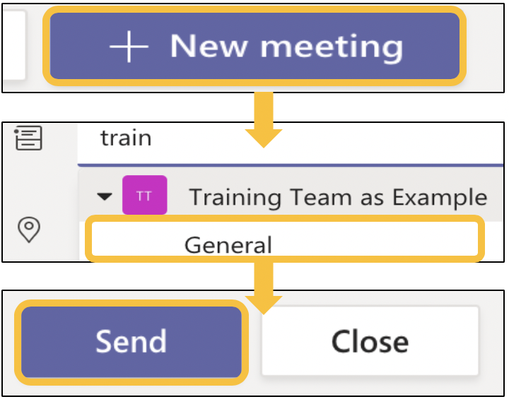 Image showing how to schedule a teams meeting in Teams
