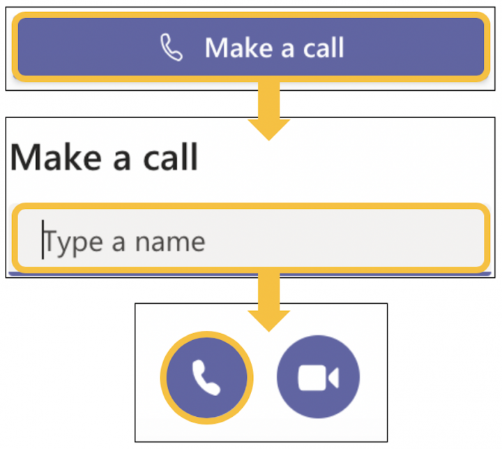 Image showing how to make an audio call from calls icon