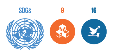 UN Sustainable Development Goals: Industry innovation and infrastructure, Peace justice and strong institutions