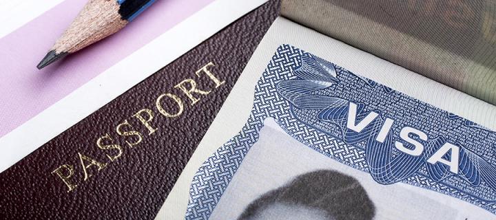 A visa and a passport