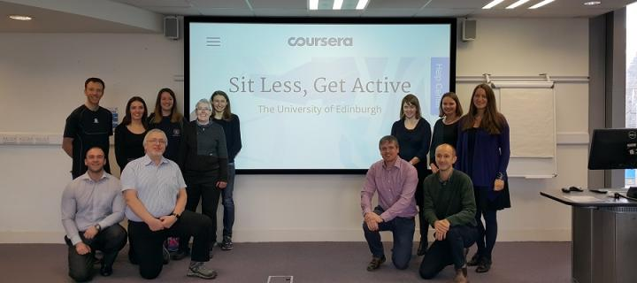 The Sit Less, Get Active MOOC team