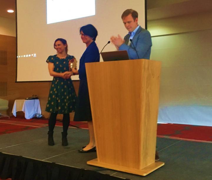 Best oral presentation - Carole-Ann Whigham