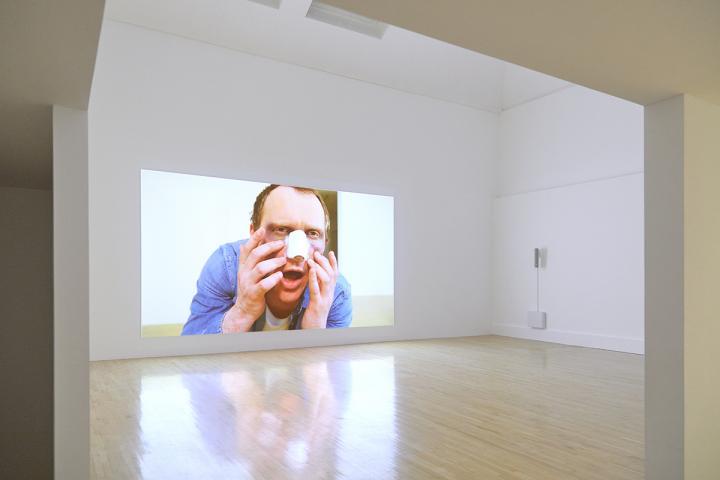 Stephen Sutcliffe, 'Sex Symbols in Sandwich Signs' (2017). Installation view. Talbot Rice Gallery.