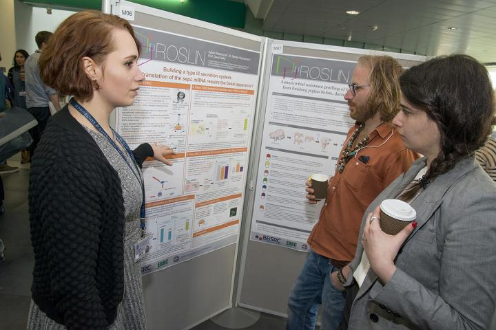 Poster presentations at the Research Student Day at the Institute.