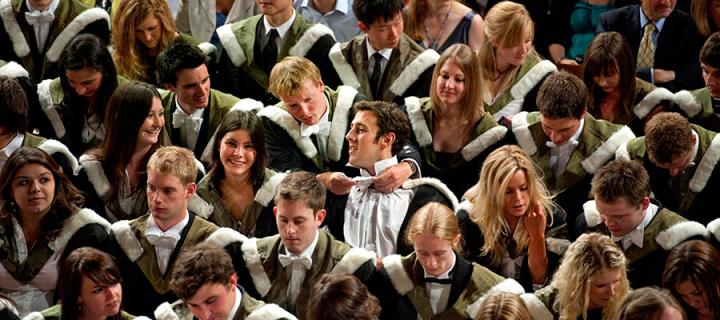 Photo of students at a graduation ceremony