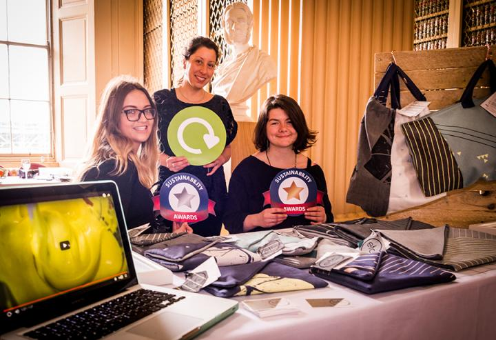 Sustainability Awards Ceremony 2017 Students from ECA fabric reuse project
