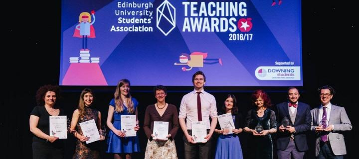 The award winners at the 2017 EUSA Teaching Awards