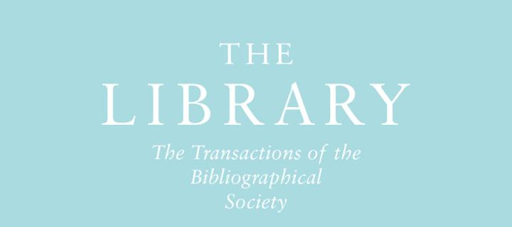 The Library: the Transactions of the Bibliographical society poster