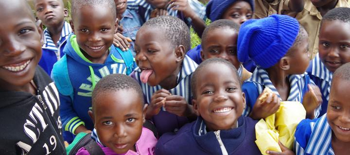 Group of smiling African children