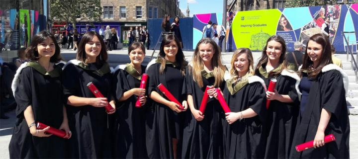 BSc (Hons) Oral Health Sciences graduation students