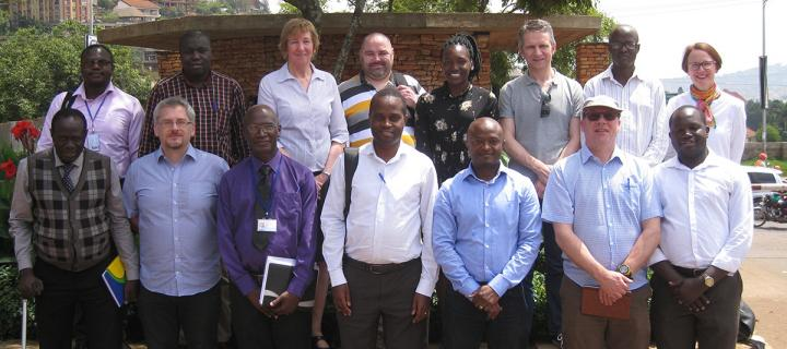 Fellows and mentors at Uganda Fleming Fund workshop