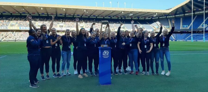 Edinburgh lift the Scottish Varsity Women's trophy