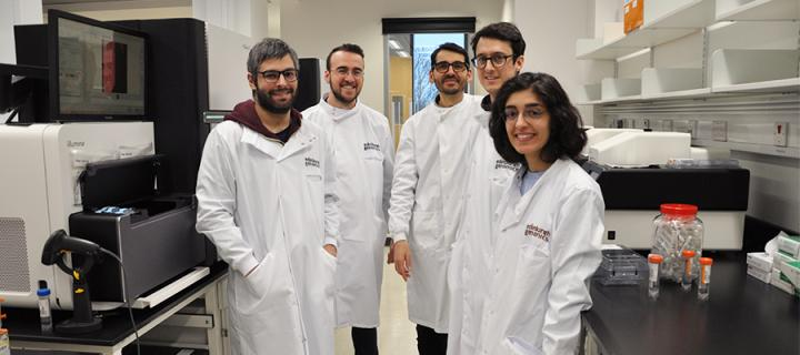 Dr Javier Santoyo-Lopez and the XDF Programme Fellows during the laboratory tour in Edinburgh Genomics.