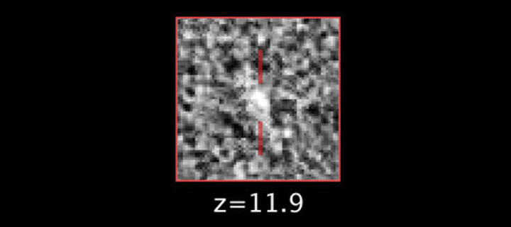 Z=11.9 Early galaxy